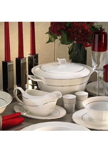 Kütahya Porselen Kütahya Porselen Aspendos 84 Parça 25150 Desenli Yemek Takımı Renkli